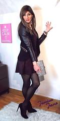 Jacket & Dress (jessicajane9) Tags: tv crossdresser tgurl feminised trans xdress m2f tg crossdress tights feminization travesti pantyhose cd transvestite crossdressing tgirl femme tranny