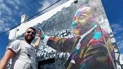 We have a dream (Toni Kaarttinen) Tags: usa unitedstates florida wpb america lakeworth lw palmbeachcounty man guy beard bear selfie hairy scruff graffiti art streetart king martinlutherking