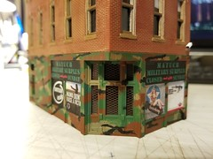 STORE FRONT (Set and Centered) Tags: ho scale rix products smalltown usa custom structure local business small model railroad railroading military surplus 187 johns place