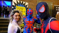 Capital Sci-Fi Con 2019 012 (byronv2) Tags: edinburgh edimbourg scotland con convention capitalscificon sciencefiction comics bandedessinee peoplewatching candid cornexchange chesser comicconvention marvelcomics spiderman spidergwen cosplay costume man woman mask