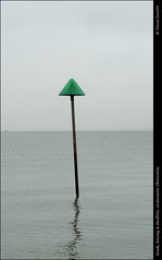 Beach, Estuary & Mudflats: Underwater Obstruction DSC00580 (Trevor Durritt) Tags: ©trevordurritt sonycybershotdschx9v obstruction thamesestuary northsea warning southendonsea essex england digitalcompactcamera