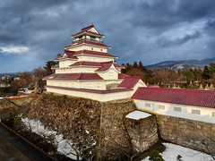 Aizuwakamatsu Castle (Trey Ratcliff) Tags: japan aizuwakamatsushi fukushimaprefecture jp treyratcliff stuckincustoms stuckincustomscom aurorahdr hdr hdrtutorial hdrphotography hdrphoto castle architecture panorama pano dji mavic mavic2 2 zoom