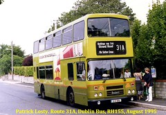 Route 31A, Lower Abbey Street to Strand Road, (Sutton House), Dublin Bus, RH155, August 1995 (Shamrock 105) Tags: dublin dublinbus sutton lowerabbeystreet shielmartinroad clontarfgarage route31a leylandolympian leyland alexander busathacliath heinztomatoketchup