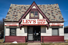 Lev's Grandview (tim.perdue) Tags: levs pawn shop grandview heights ohio old abandoned empty urban decay building house sign buy sell cash loans door window slate roof west fifth avenue w 5th ave vacant