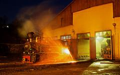Dumping the Firebox (Stapleton Road) Tags: steam locomotive embers coal romania depot