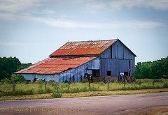 Pictures of Home (HSS) (13skies) Tags: barnswallows slidersunday postprocessing hss slider postwork singleshothdr raw barn software topaz happyslidersunday roof fence countryroad sony