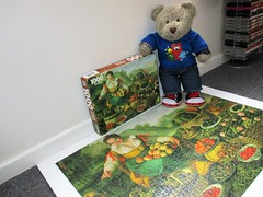 Duz all this froot count as me 5-a-day? (pefkosmad) Tags: jigsaw puzzle hobby leisure pastime 1000pieces used secondhand complete thinpieces loosefit thegoldenseries vincenzocampi thefruitseller thefruitdealer lafruttivendola tedricstudmuffin teddy bear ted animal toy cute cuddly fluffy plush soft stuffed crownpuzzles