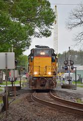 Head On, Going Back (Jacob Narup) Tags: train trains railfan railroad railfanning texas richmond richmondtexas richmondtx up unionpacific up1048 longhoodforward lhf