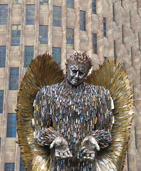 The Knife Angel. P1530928 (Joy Shakespeare) Tags: theknifeangel alfiebradley sculpture knifeangelcampaign coventrycathedral coventry uk britishironworkcentre