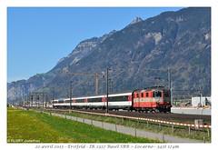 "Re 4/4"" Suisse Express - Erstfeld (CC72080) Tags: re420 re44 sbb ffs cff swiss express suisse locomotive lokomotive zug train personenzug interrégio ir erstfeld 11108"