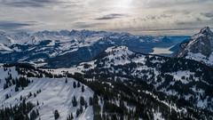 What a view! (Silvan Bachmann) Tags: switzerland swiss suisse schwyz furggelenstock mythen snow snowshoe hike swissalps mountains drone dji phantom march clouds light sun forrest lake ngc breathtaking