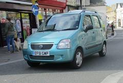 2001 Suzuki Wagon R (occama) Tags: ef51gwd 2001 suzuki wagon r old car cornwall uk small blue japanese