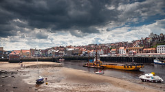 Whitby Harbour (DarrenH07) Tags: whitby harbour yorkshire boats coast sky sand busy tamron18270mm vc nikon d5000