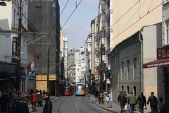 Hudavendigar Cd. (lazy south's travels) Tags: istanbul turkey turkish tram t1 transport road street scene track building architecture urban capital city old