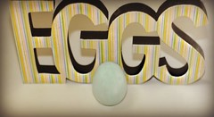 It's egg-cellent! (nushuz) Tags: smileonsaturday minimaleggtic stripes egg pastels stripedsigneggs