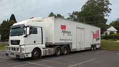 M.A.N. Mittagong (Jungle Jack Movements (ferroequinologist)) Tags: man mittagong new south wales nsw southern highlands hp horsepower big rig haul haulage freight cabover trucker drive transport carry delivery bulk lorry hgv wagon road highway nose semi trailer deliver cargo interstate articulated vehicle load freighter ship move roll motor engine power teamster truck tractor prime mover diesel injected driver cab cabin loud rumble beast wheel exhaust double b grunt flemings nursery
