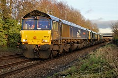 6K05 mash up. (Powerhaul70Pey) Tags: 6k05 freightliner drs directrailservices carlisle crewe freight train locomotive railway railroad bamberbridge 66421 66509 66505