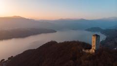 Lago d'Orta al tramonto (DavideBoatto) Tags: lagodorta sunset drone djimavicair dji djimavic fly italy lake landscape mountains castle ortasangiulio sky nature alps tramonto photography ngc