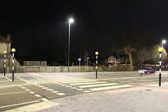 Night Shoot ,54 (doojohn701) Tags: night dusk vegetation trees streetlighting sky road crossing tree bexleyheath fence traffic uk