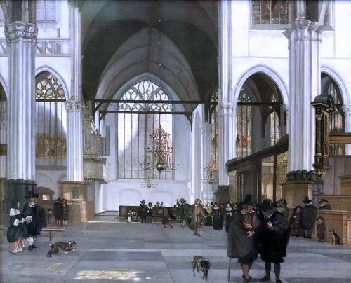 IMG_5666 Emanuel de Witte.  1617-1692. Delft Amsterdam   The Oude Kerk in Amsterdam. 1659.   Hambourg Kunsthalle.
