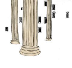St. Vincent-de-Paul, Paris, February 2019 (stevefaradaysketches) Tags: urbansketch urbansketchers usk inkdrawing illustration fineliner penandinksketch columns church classical architecture buildings city paris france windows