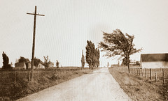 Saint-Hubert, vers 1915-1916. Chemin Chambly. (DubyDub2009) Tags: architecture campagne country archive paysage landscape chambly sainthubert histoire québec banq barn ferme grange