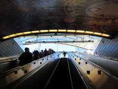 34th St Subway Station Entrance Hudson Yards 4163 (Brechtbug) Tags: 2019 march 34th st subway station entrance hudson yards midtown manhattan new york city nyc 03172019 west side construction center cityscape architecture urban landscape scape view cityview shadow silhouette close up skyline skyscraper railroad rail yard train amtrak tracks below grown buildings above patricks day saint patrick irish holiday