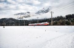 LAH_0956 (Hans-Peter Kurz) Tags: railway railroad reisen railscape eisenbahn zug train transport austria österreich outdoor öbb österreichische bundesbahnen berg im drautal drautalbahn kbs223 cityjet br4746 desiroml siemens s1 sbahn kärnten snow schnee winter clouds wolken nebel mountains berge