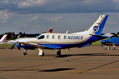 N228CX   Socata TBM700A [84] Southend~G 07/09/2002 (raybarber2) Tags: 84 abpic airportdata bizprop cn84 cancelled egmc filed flickr n228cx planebase raybarber single usacivil writtenoff