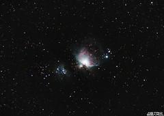 The Orion Nebula - M42 (PixInsight re-edit) (AstroBeard) Tags: astro astrophotography astronomy stars space skyatnight night sky constellation orion nebula flame portland dorset belt sword canon deep stacker m42 ngc2024 ngc 2024 stack skywatcher staradventurer cheyne wears tair pixinsight