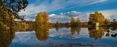 Landschaft bei Auma/Thür. (berndtolksdorf1) Tags: deutschland thüringen landschaft landscape teich bäume natur jahreszeit herbst autumn himmel sky outdoor