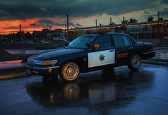 to protect and to serve (try...error) Tags: sheriff black white police car polizei rain auto reflection street mercury crown victoria urban us uscar usa available light