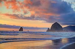 Sunset at Cannon Beach (aldenjack) Tags: haystack rock cannon beach oregon coast sunset alden jack aldenjack