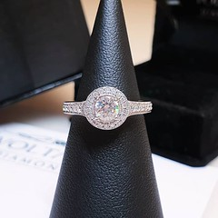 Our antique style round halo engagement ring is divine 🌟 . . . #voltairediamonds #diamond #diamonds #diamondring #ringinspo #engagementring #engagementrings #ringgoals #engaged #isaidyes #ihavethisthingwithdiamonds #gemstones #dublin #jeweller #besp (VoltaireDiamonds.ie) Tags: diamond rings engagement jewellery