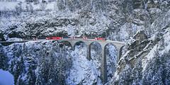 Landwasser Viaduct (andrefroehlichphotography) Tags: bridge landwasserviaduct landwasserviadukt rhb rhaetianrailway rhätischebahn snow switzerland viaduct winter