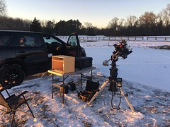 Atsion Ranger Station, NJ - January 11th, 2019 (Daniel McCauley) Tags: atsionlake nj atsion ranger station new jersey pine barrens astrophotography astropix telescope photography night cold ice snow