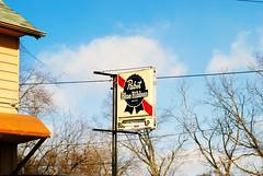 Buckhorn Bar & Grill - Franklin, Wisconsin (Cragin Spring) Tags: wisconsin wi unitedstates usa unitedstatesofamerica bar tavern pabst pbr beer beersign sign buckhorntavern buckhornbargrill franklin franklinwi franklinwisconsin midwest piwo bier sky