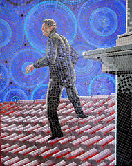 To Catch A Thief (R~P~M) Tags: mosaic mural art alfredhitchcock film movie train railway station leytonstone londonunderground centralline london england uk unitedkingdom greatbritain tocatchathief
