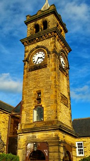 Ellis memorial clock tower in Norwood Green, West Yorkshire  (Built in 1897)