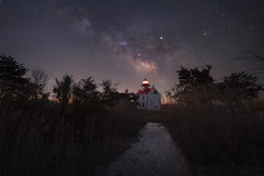 Follow The Light (Mike Ver Sprill - Milky Way Mike) Tags: east point lighthouse light new jersey nj coast maurice river heislerville milky way galaxy universe sand beach shore bay tall grass trail landscape nightscape dark skies best places photograph mw night sky stars starry nightscaper nikon d810 long exposure ioptron star tracker astophotography astronomy