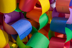 Stronger Together (Chancy Rendezvous) Tags: paper chain art craft artsandcrafts colorful colors constructionpaper staples links children kids decorative decoration rainbow solidarity paperchain