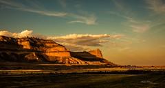 Sunset At Scotts Bluff National Monument (elpeterso69) Tags: dsc09559 scotts bluff national monument scottsbluff ne oregon trail westernnebraska sandhills nebraska sunset dslra900 f14 iso 250 sony 2470mm f28 za ssm