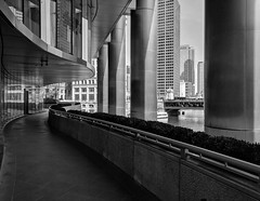 Structure (ancientlives) Tags: chicago chicagoriver illinois il usa travel trips springequinox steel glass architecture buildings streetphotography towers skyscrapers skyline city cityscape trump trumptower blackandwhite bw mono monochrome wednesday 2019 march