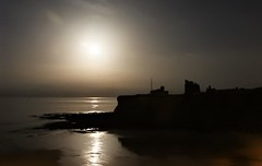 Tynemouth Priory Silhouette and 'Super Worm' Moon (Gilli8888) Tags: nikon p900 coolpix night nightshots northeast tynemouth light supermoon superwormmoon moon lunar northtyneside cameraphone samsung galaxy s7 beach sand coast coastal silhouette silhouettephotography priory tynemouthpriory buildings coastguard