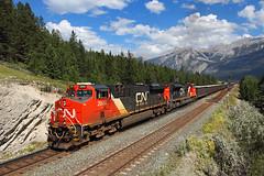 Westbound at English (Moffat Road) Tags: canadiannational cn ge es44ac english alberta canada train railroad locomotive mountains cnedsonsub ab 2800