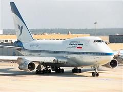 Iran Air                                     Boeing 747SP                                   EP-IAC (Flame1958) Tags: iranair iran iranairb747 iranairb747sp boeing boeing747 b747 747 boeing747sp 747sp boeingsp epiac fra frankfurt frankfurtairport 230393 0393 1993 scan print