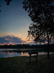 Sunset at Upper Pierce reservoir (Tom Helleboe) Tags:
