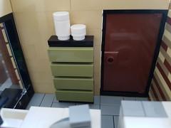 Scandinavian Sea House MOC. Laundry room wall. (betweenbrickwalls) Tags: lego afol moc furniture legofurniture interiordesign design