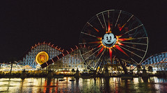 Pixar Pier (donpabloo) Tags: disney california canon adventure mickey mouse roller coaster outdoor night 6d disneyland theme park wheel ferris ride