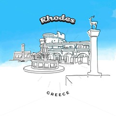Rhodes Greece famous landmarks (Hebstreits) Tags: ancient antique architecture art background banner boat building city cityscape colossus dearstatues deer entrance europe facade famous flat grandmaster greece greek harbor history icon illustration island isolated knights landmark landmarks landscape linear medieval monument old oldport palace rhodes rodos sea silhouette skyline symbol tourism tower town travel vacation vector